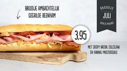 Broodje van de maand: Broodje ambachtelijk gegrilde beenham